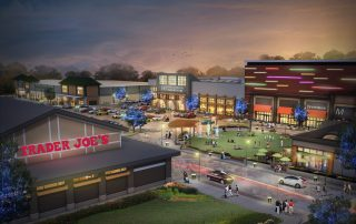 Trader Joe's at Night in Market and Main in Bedford, New Hampshire Rendering
