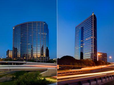 Pinnacle Tower at Night in Dallas, Texas