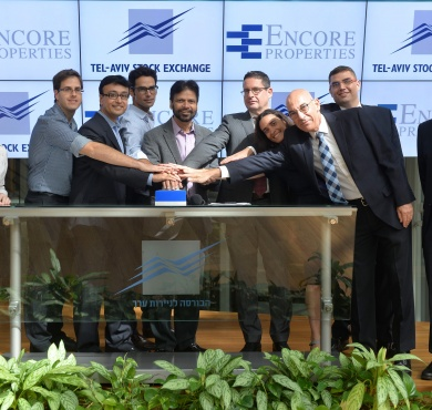 Encore Properties opens at the Tel-Aviv Stock Exchange in Israel
